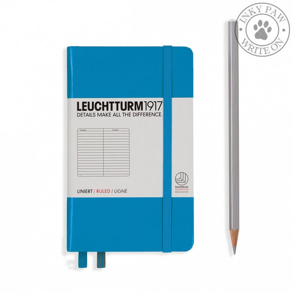 Leuchtturm1917 Pocket (A6) Hardcover Notebook Azure Ruled