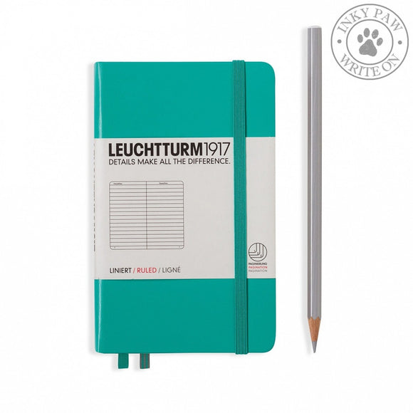 Leuchtturm1917 Pocket (A6) Hardcover Notebook Emerald Ruled