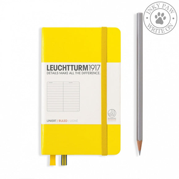 Leuchtturm1917 Pocket (A6) Hardcover Notebook Lemon Yellow Ruled