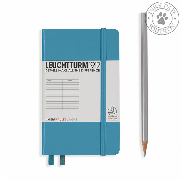 Leuchtturm1917 Pocket (A6) Hardcover Notebook Nordic Blue Ruled