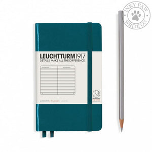 Leuchtturm1917 Pocket (A6) Hardcover Notebook Pacific Green Ruled Paper