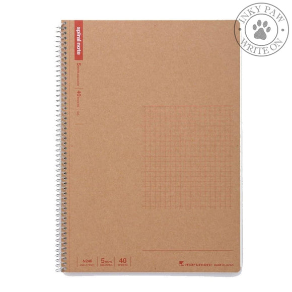 Maruman B5 Basic Spiral Notebook (N246) Grid/graph Paper