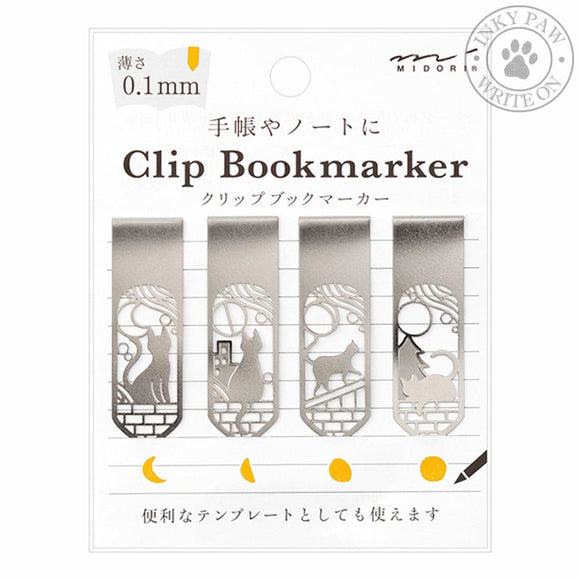 Midori Clip Bookmarker - Cat & Moon Accessories