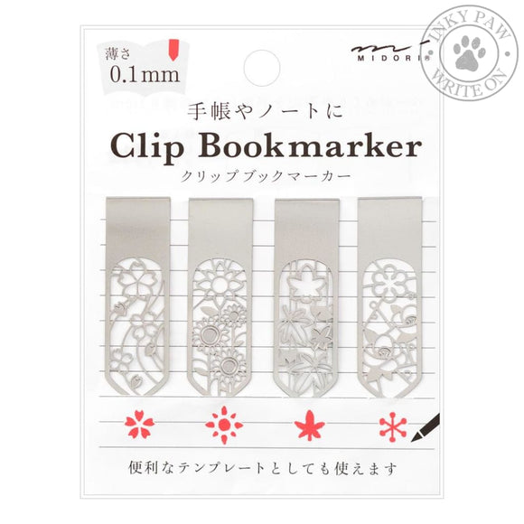 Midori Clip Bookmarker - Flower Accessories