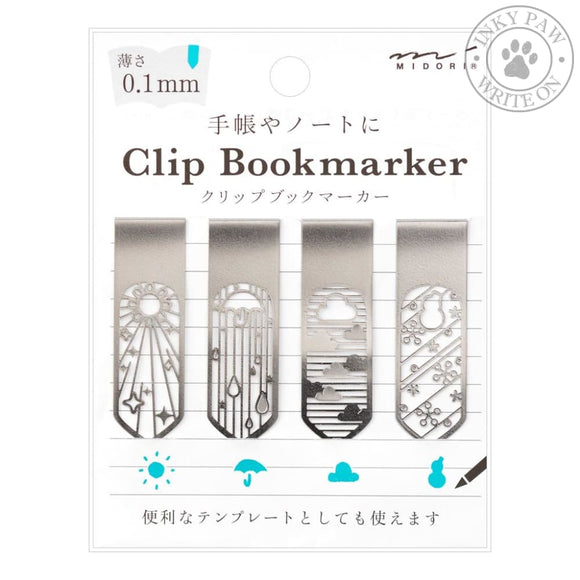 Midori Clip Bookmarker - Weather Accessories
