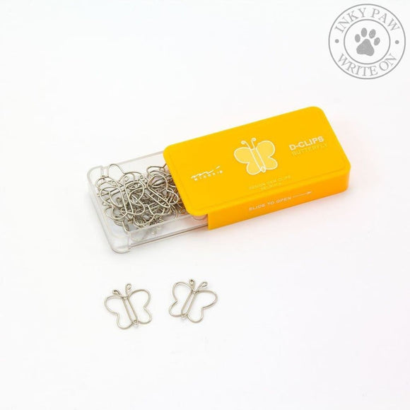 Midori D-Clips Paper Clips - Butterfly Accessories