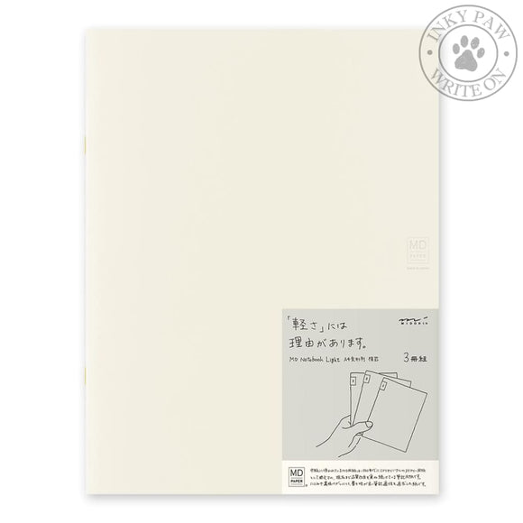 Midori Md Notebook Light A4 - Lined (3-Pack) Paper