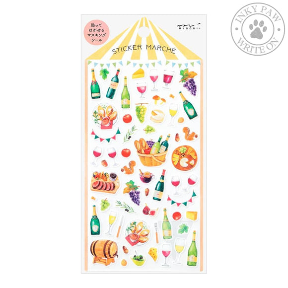 Midori Sticker Marche - Wine Accessories