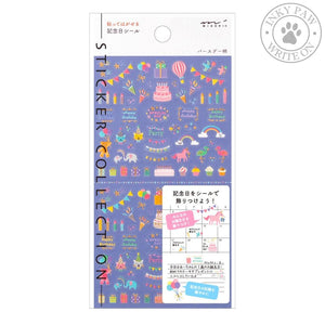 Midori Stickers - Anniversary Birthday Accessories