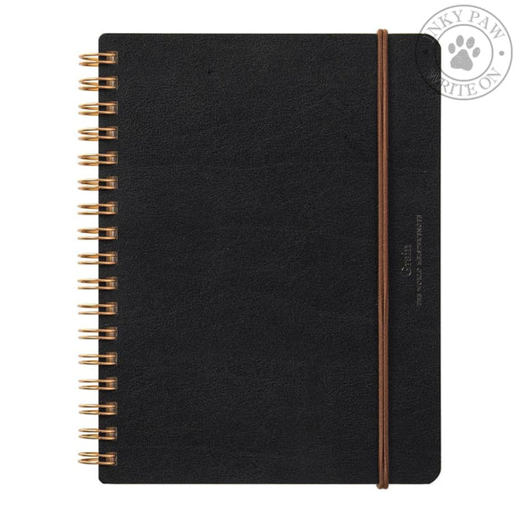 Midori Wm Ring B6 Notebook Grain - Black Paper