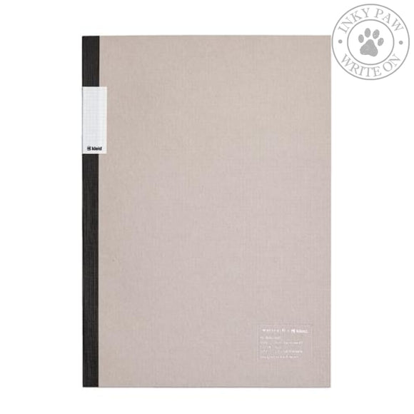 Nakamura Printing Co. X Kleid A5 2Mm Flat Notebook - Gray White Paper