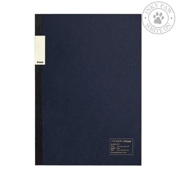 Nakamura Printing Co. X Kleid A5 2Mm Flat Notebook - Navy Cream Paper