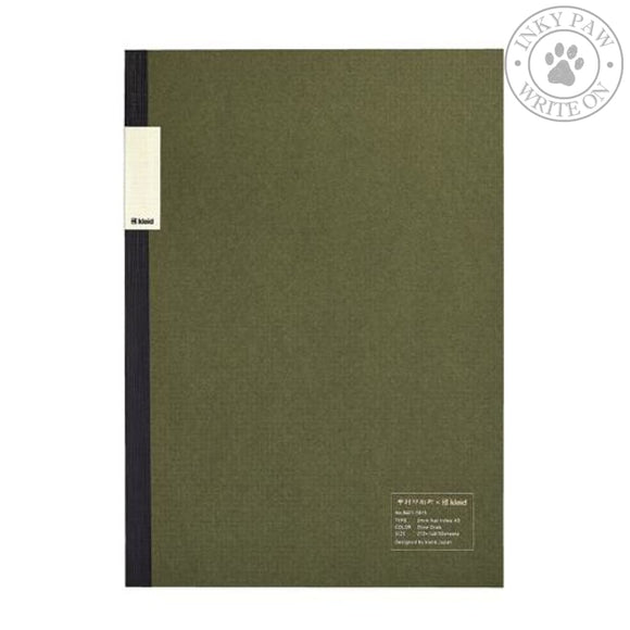Nakamura Printing Co. X Kleid A5 2Mm Flat Notebook - Olive Drab Cream Paper