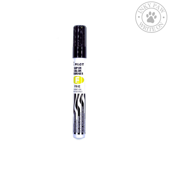 Pilot Fine Tip Super Color Permanent Marker - Black Pens