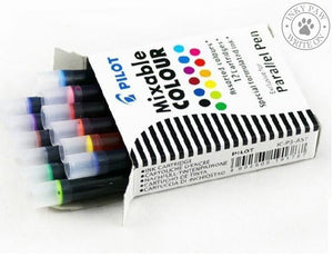 Pilot Ink Cartridges For Parallel Calligraphy Pen (12-Colour Set)