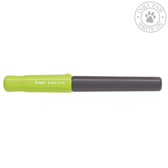Pilot Kakuno Fountain Pen - Black Barrel Green Cap Pens