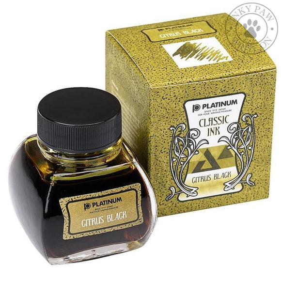 Platinum 60 Ml Classic Ink - Citrus Black Inks