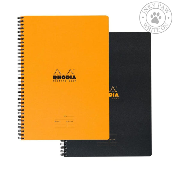 Rhodia Meeting Book - Orange Paper