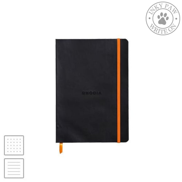 Rhodia Rhodiarama A5 Soft Cover Notebook - Black