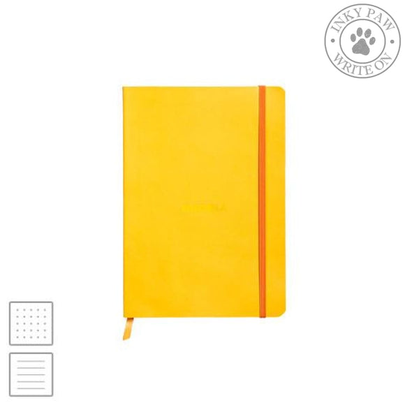 Rhodia Rhodiarama A5 Soft Cover Notebook - Daffodil Yellow