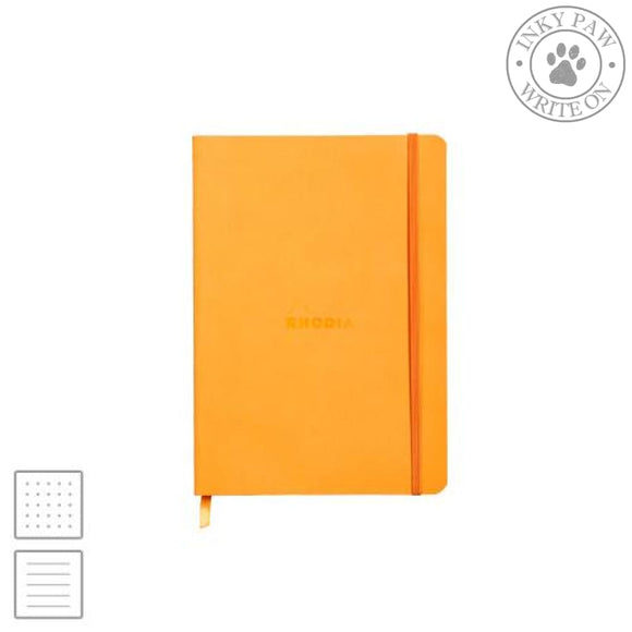 Rhodia Rhodiarama A5 Soft Cover Notebook - Orange