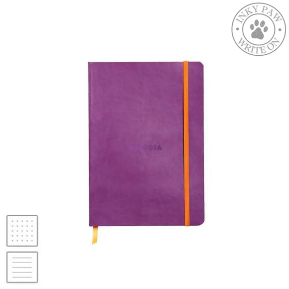 Rhodia Rhodiarama A5 Soft Cover Notebook - Purple