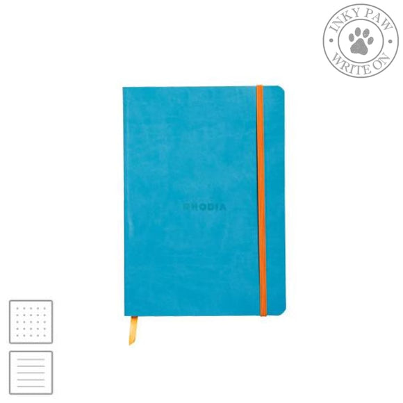 Rhodia Rhodiarama A5 Soft Cover Notebook - Turquoise