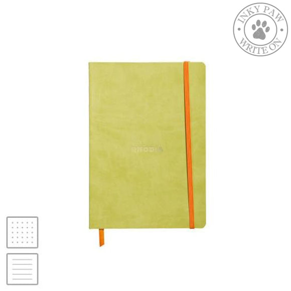 Rhodia Rhodiarama Soft Cover Notebook - Anise Green