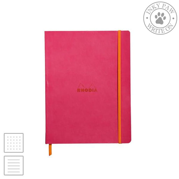 Rhodia Rhodiarama Soft Cover Notebook - Raspberry Pink