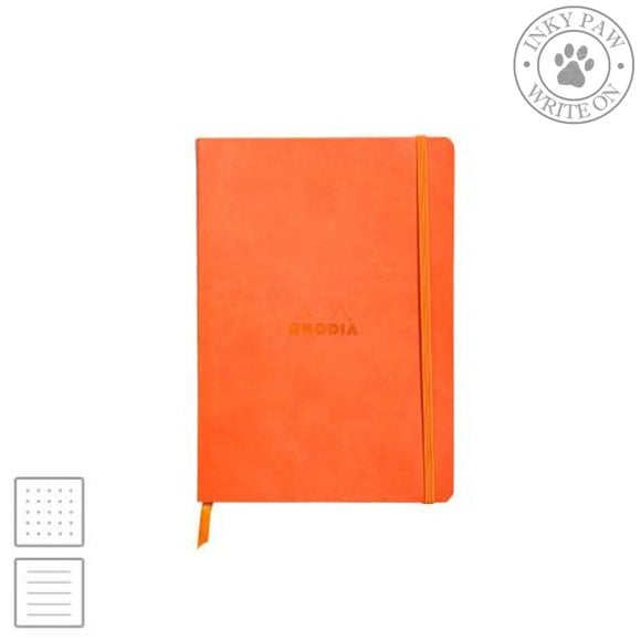 Rhodia Rhodiarama Soft Cover Notebook - Tangerine Orange