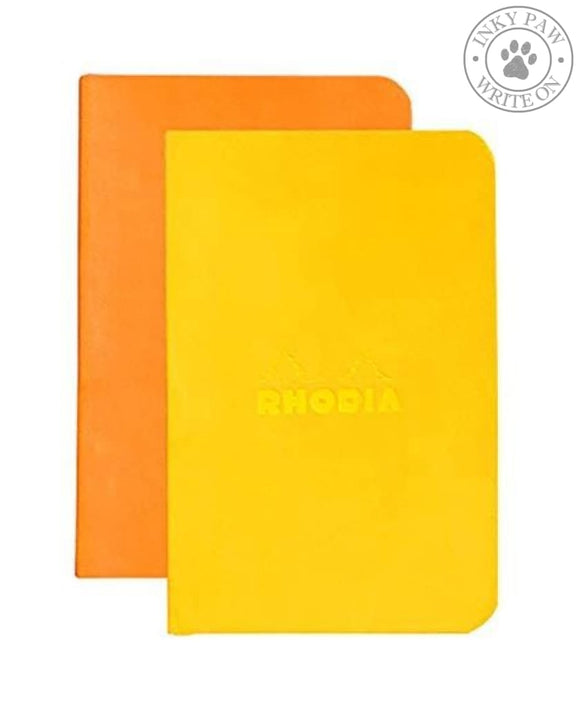 Rhodia Set Of 2 Minibooks - Orange/daffodil
