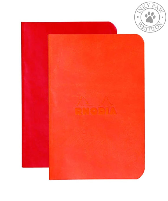 Rhodia Set Of 2 Minibooks - Poppy/tangerine