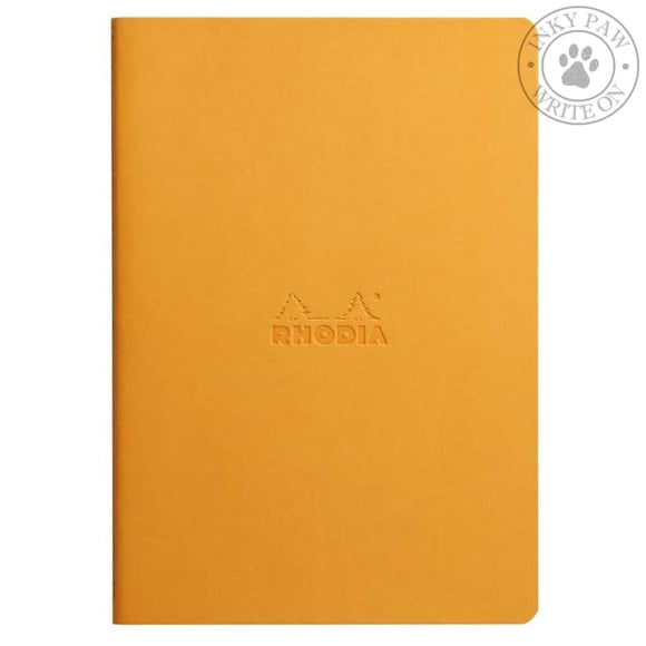 Rhodia Sewn Spine Notebook - Orange Paper
