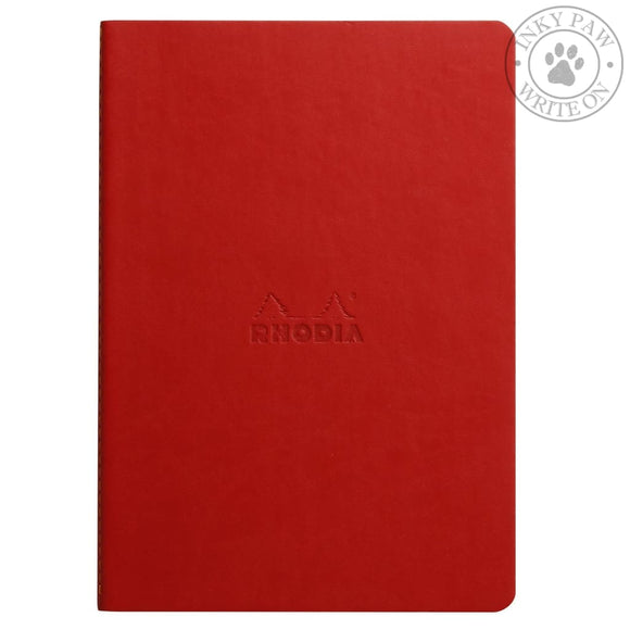 Rhodia Sewn Spine Notebook - Poppy Red Paper