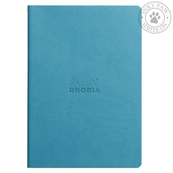 Rhodia Sewn Spine Notebook - Turquoise Paper