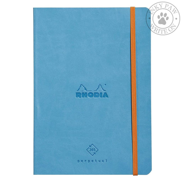 Rhodiarama Perpetual Diary/planner - Turquoise Paper