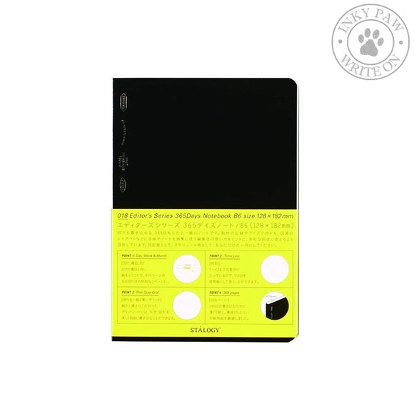 Stalogy 365 Days Notebook B6 - Black Paper