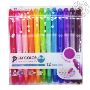 Tombow Playcolor Dot 12-Colour Dual Tip Marker Set Pens