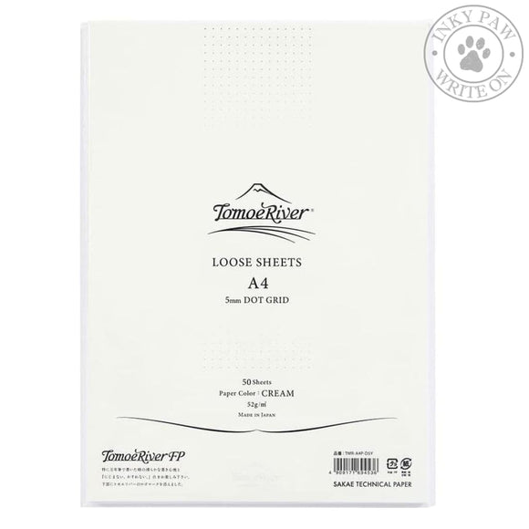 Tomoe River A4 Loose Sheets 100 Cream Dot Grid Paper