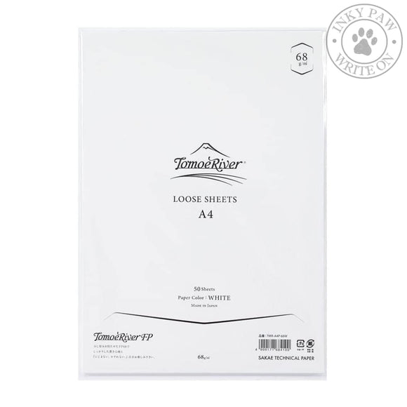Tomoe River A4 Loose Sheets (68 Gsm) 50 White Paper