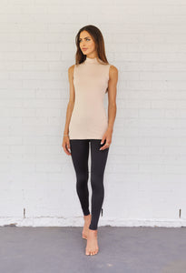 Luxe Sleeveless Basic Clay