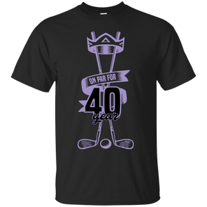 40 Years Old 40th Birthday Golfers T-shirt