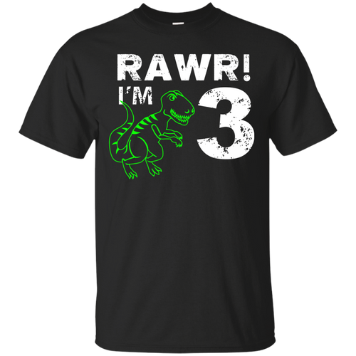 3rd Birthday Rawr I m 3 Shirt Three Year Old Dinosaur Gift
