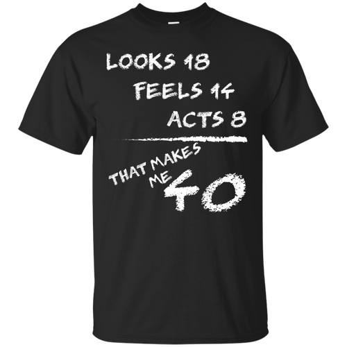 40th Years Old 40th Birthday Gift Awesome Funny T-shirt