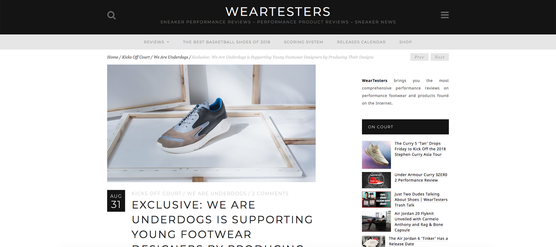 52127db21d3 Answering the sneaker community gap: Look at WearTesters insight – We Are  Underdogs