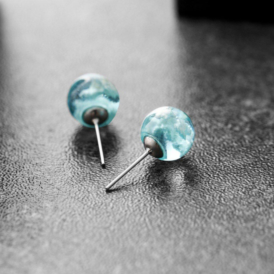 Blue Sky Earrings-Iconic Spark