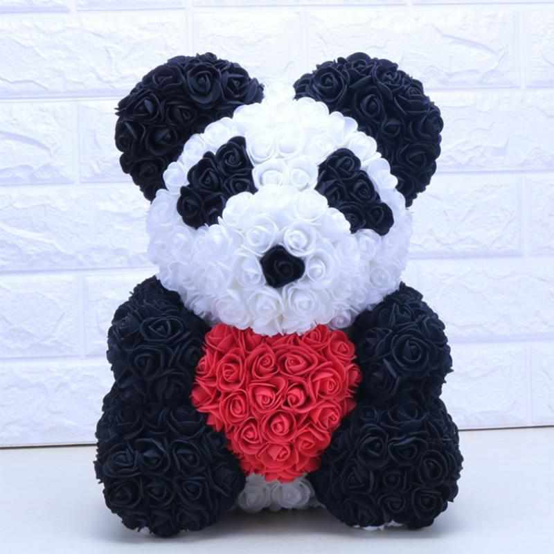 Rose Panda with Heart | Large-Iconic Spark