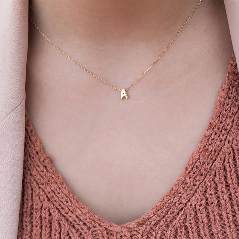 Simple A-Z Letter Necklace-Iconic Spark