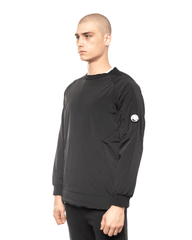 C.P. Company Garment Dyed Stretch Nylon Lens Crewneck Black