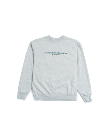 Sporty & Rich Athletic Club Crewneck Heather Grey